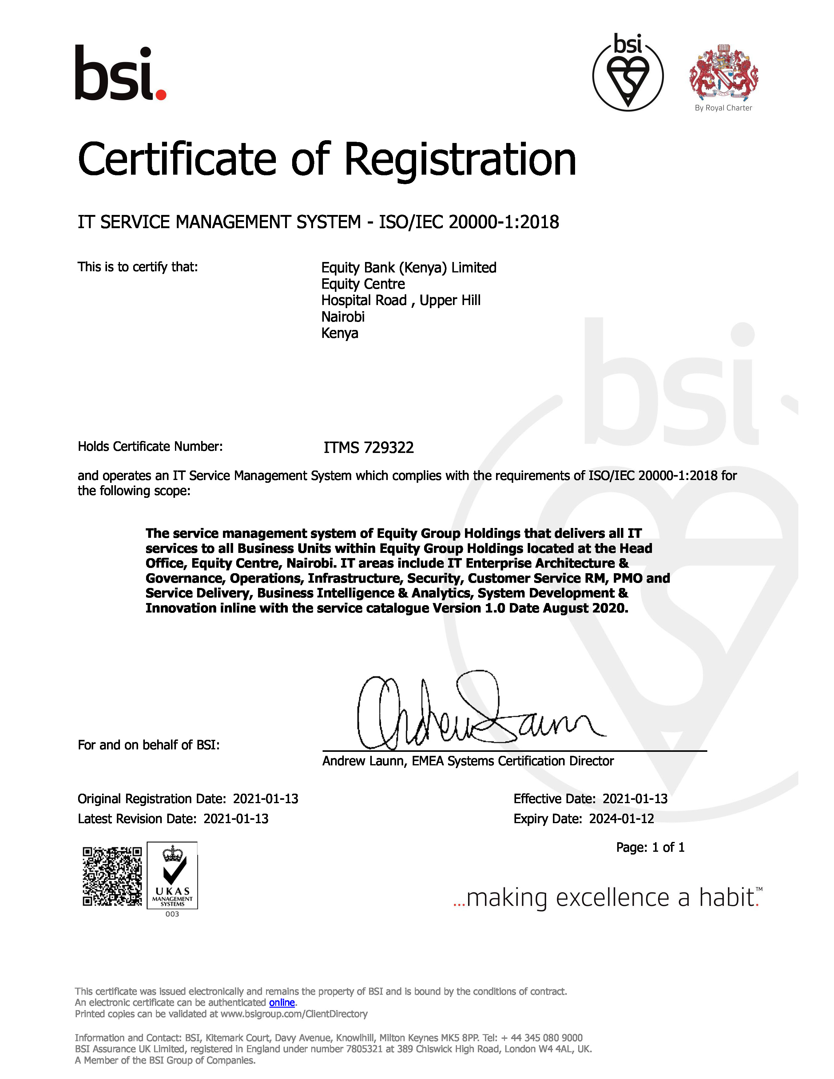 Certification ITMS 729322
